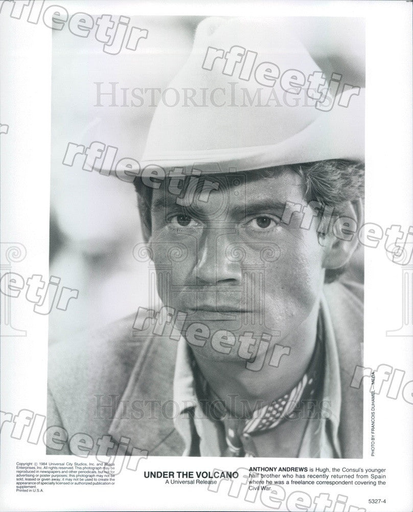 1984 British Actor Anthony Andrews in Film Under The Volcano Press Photo ady421 - Historic Images