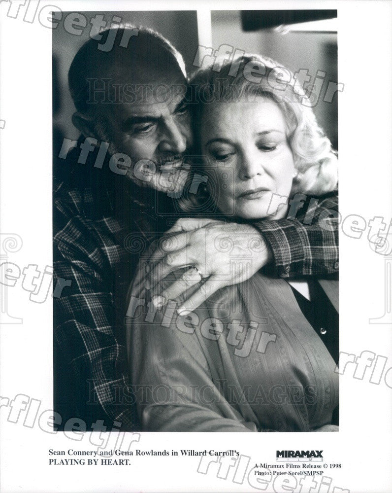 1998 Oscar Winning Actors Sean Connery & Gena Rowlands Press Photo ady43 - Historic Images