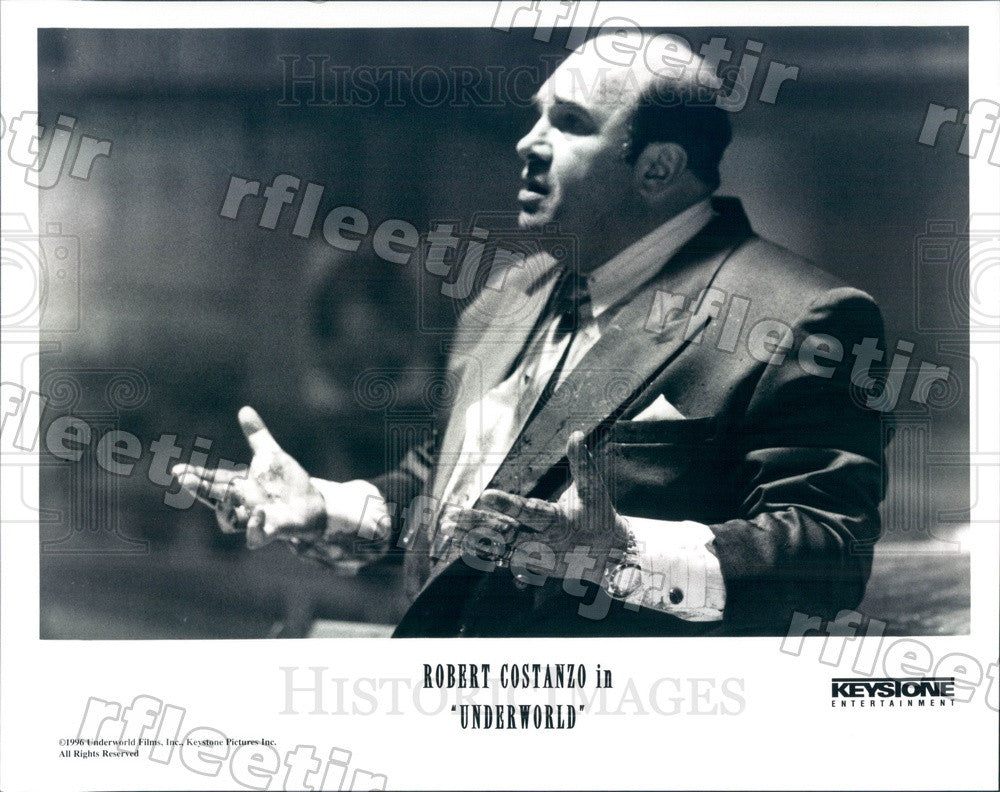 1996 American Actor Robert Costanzo in Film Underworld Press Photo ady431 - Historic Images