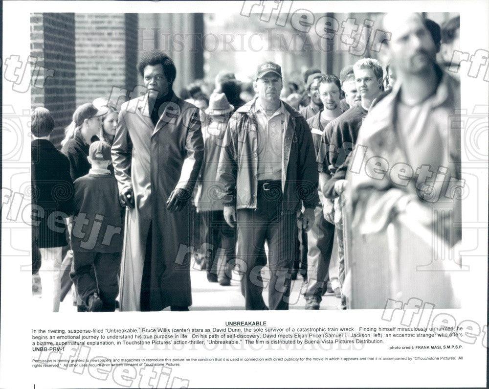 Undated Emmy Winning Actor Bruce Willis & Samuel L Jackson Press Photo ady445 - Historic Images