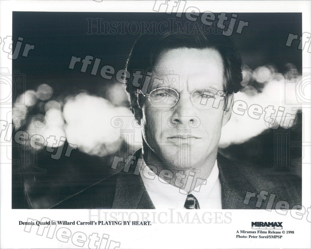 1998 Actor Dennis Quaid in Film Playing By Heart Press Photo ady45 - Historic Images