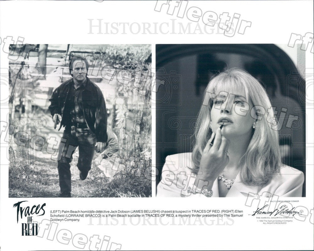 1992 Actors James Belushi & Lorraine Bracco in Traces of Red Press Photo ady451 - Historic Images