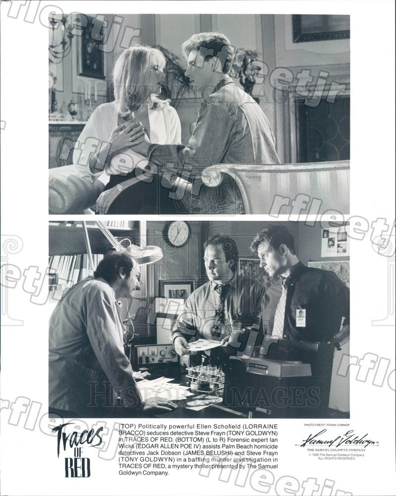 1992 Actors James Belushi, Lorraine Bracco, Edgar Allen Poe Press Photo ady453 - Historic Images