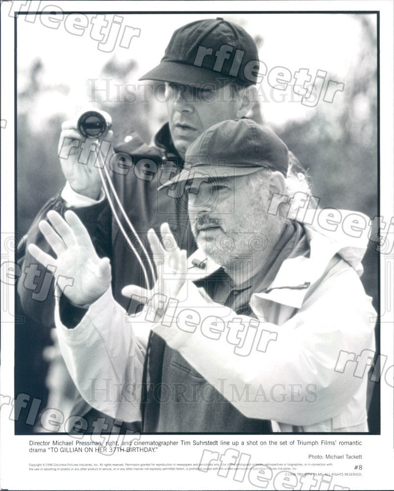 1996 Director Michael Pressman, Cinematographer Tim Suhrstedt Press Photo ady461 - Historic Images