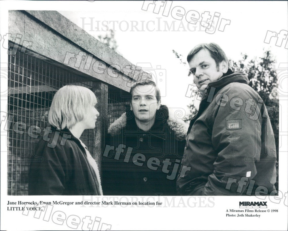 1998 Actors Jane Horrocks, Ewan McGregor, Director Mark Herman Press Photo ady47 - Historic Images