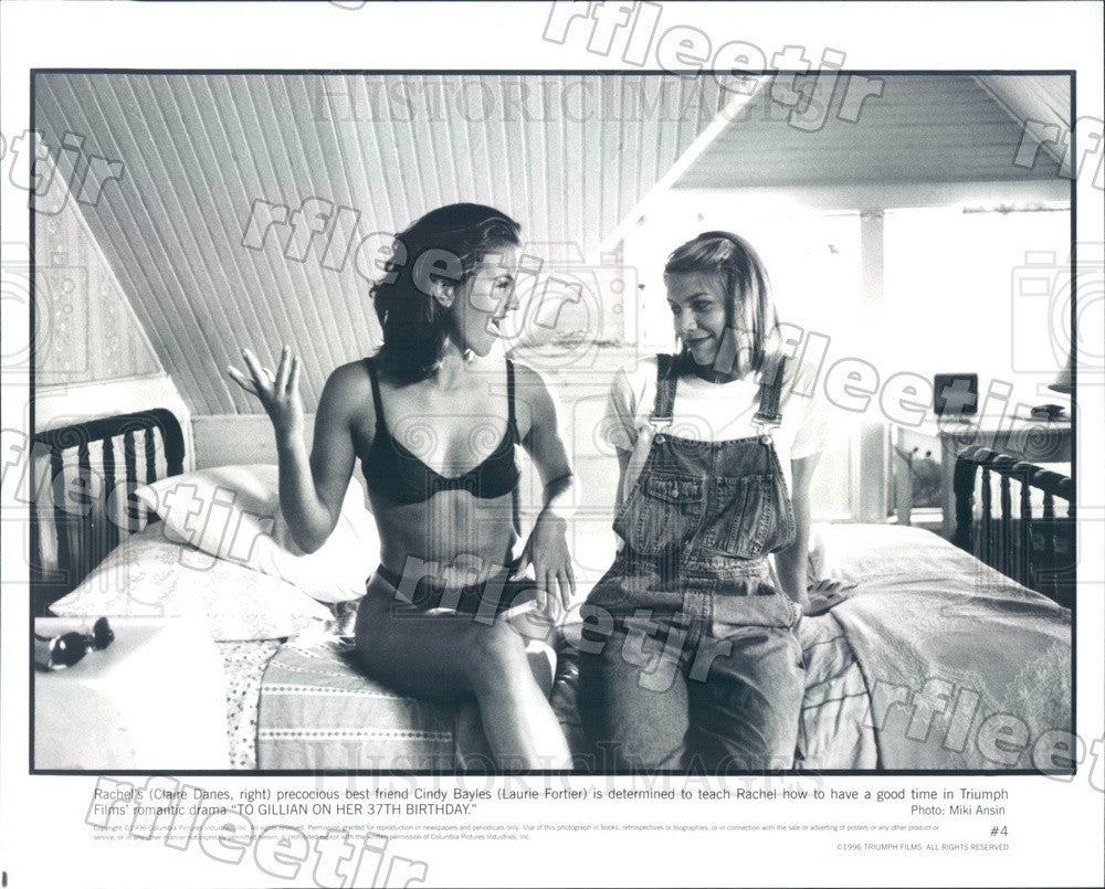 1996 Emmy Winning Actor Claire Danes & Laurie Fortier in Film Press Photo ady477 - Historic Images