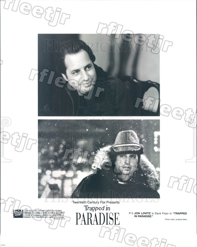 1994 Emmy Winning Actor Jon Lovitz in Trapped In Paradise Press Photo ady489 - Historic Images
