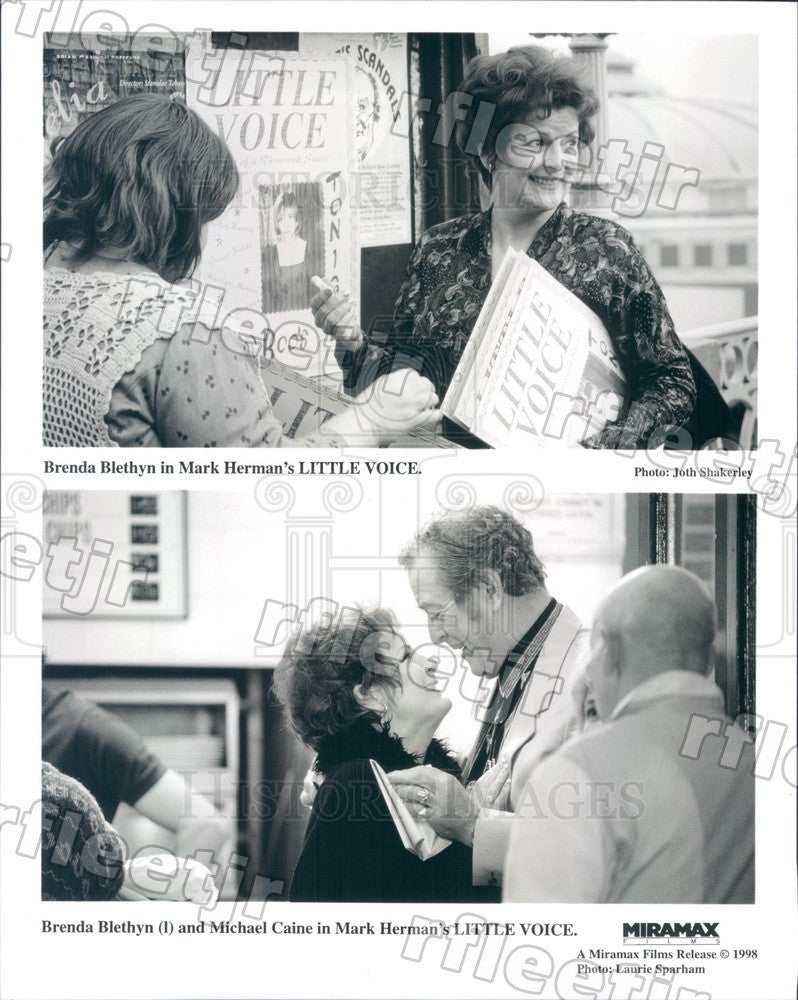1998 Actors Brenda Blethyn, Oscar Winner Michael Caine Press Photo ady49 - Historic Images