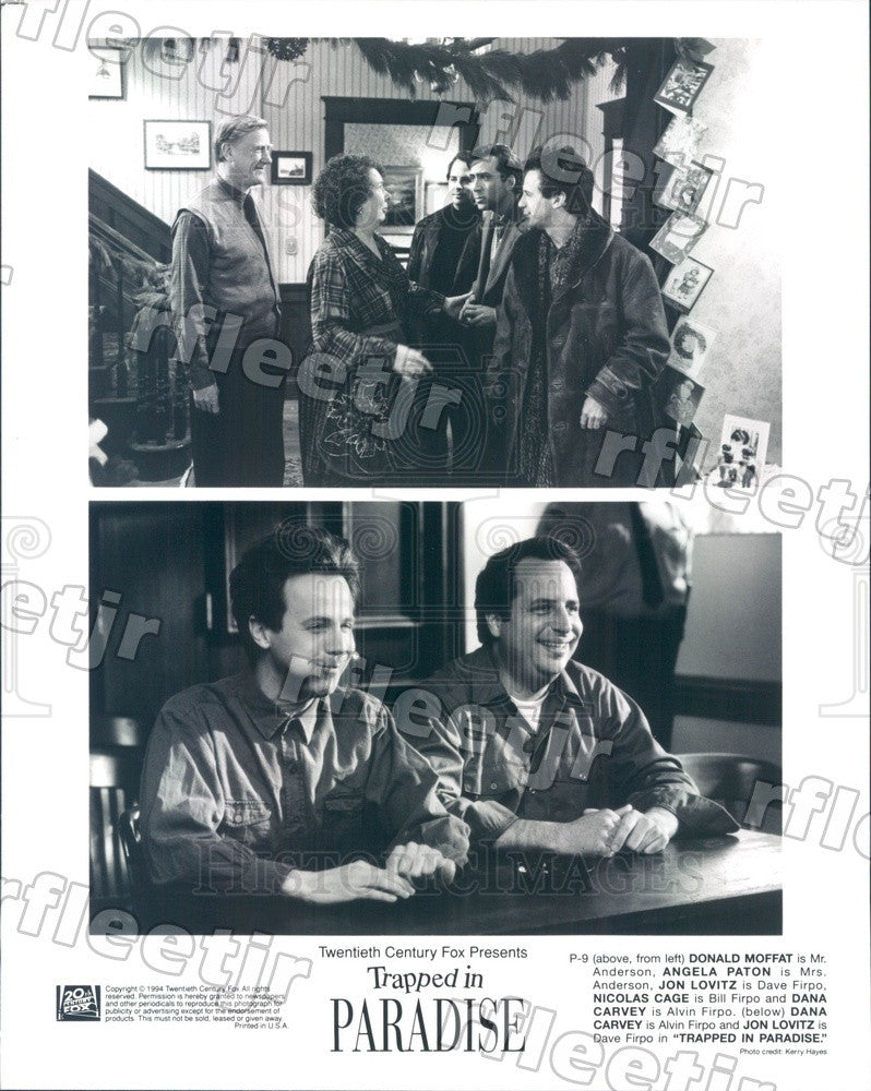 1994 Actors Jon Lovitz/Nicolas Cage/Dana Carvey/Donald Moffat Press Photo ady491 - Historic Images