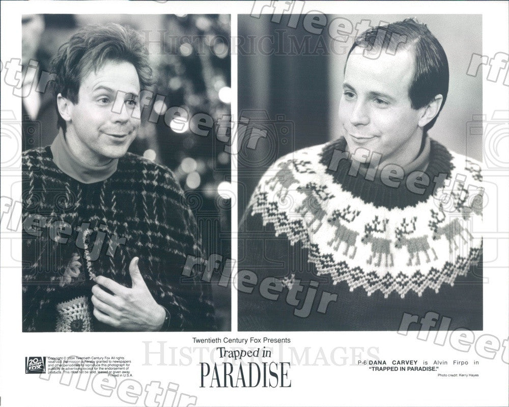 1994 Actor Dana Carvey in Film Trapped In Paradise Press Photo ady493 - Historic Images