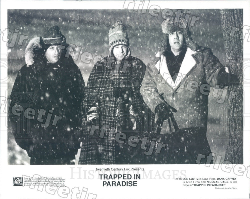 1994 Actors Jon Lovitz, Nicolas Cage, Dana Carvey in Film Press Photo ady497 - Historic Images