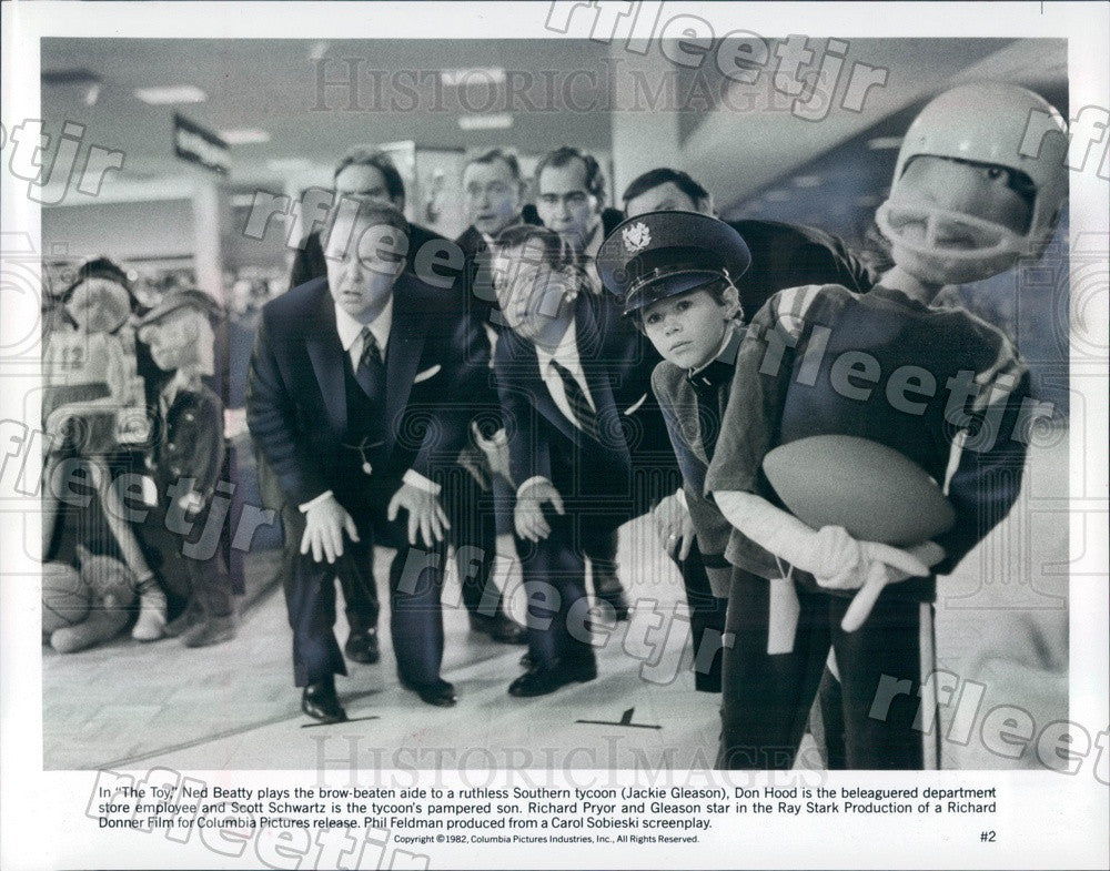 1982 Actors Ned Beatty, Don Hood, Scott Schwartz in The Toy Press Photo ady501 - Historic Images