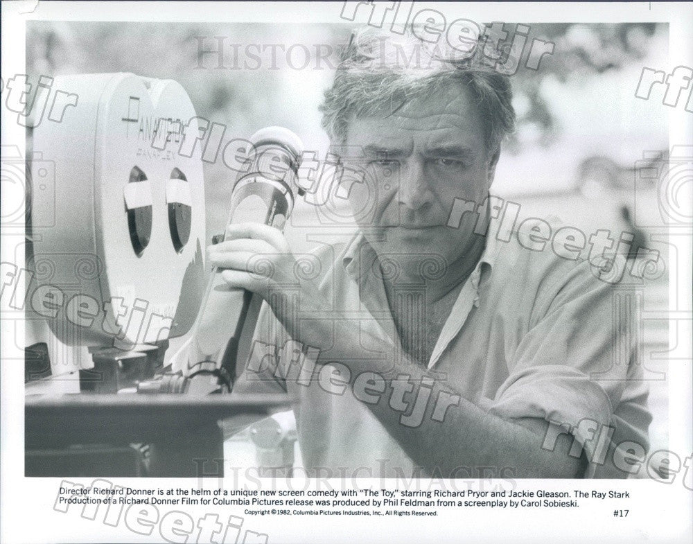 1982 Director Richard Donner Filming The Toy Press Photo ady505 - Historic Images