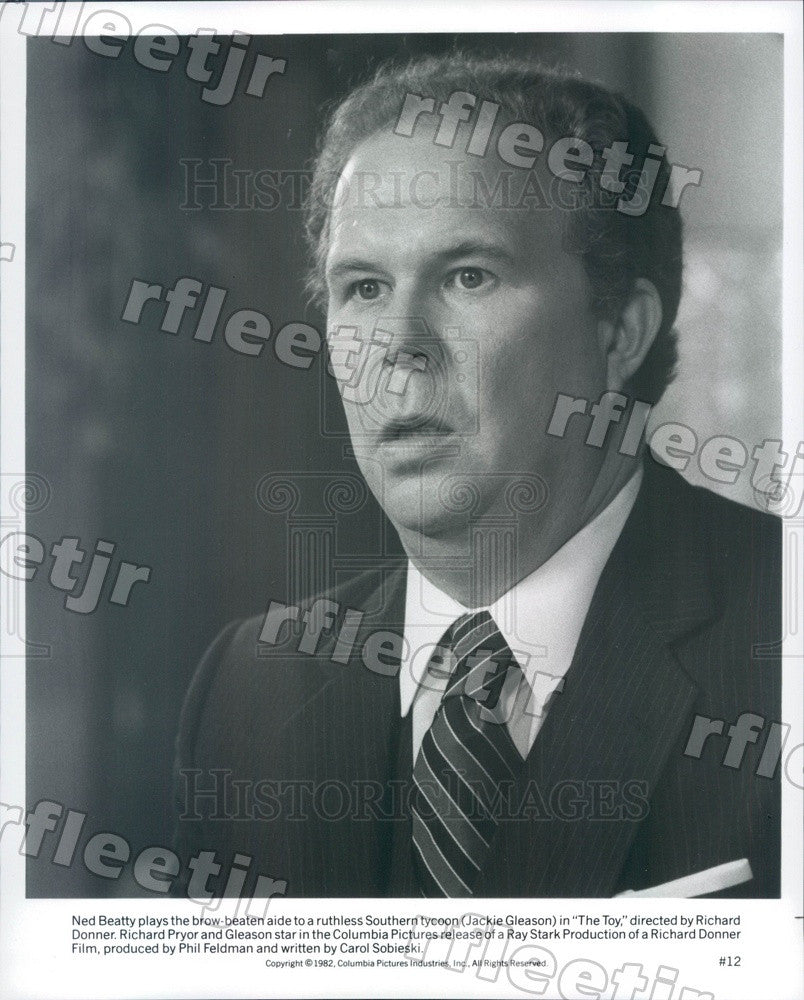 1982 American Hollywood Actor Ned Beatty in Film The Toy Press Photo ady507 - Historic Images
