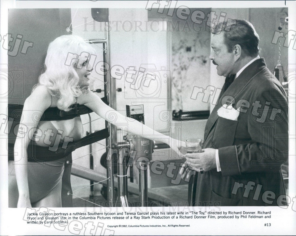 1982 Actors Jackie Gleason & Teresa Ganzel in Film The Toy Press Photo ady509 - Historic Images