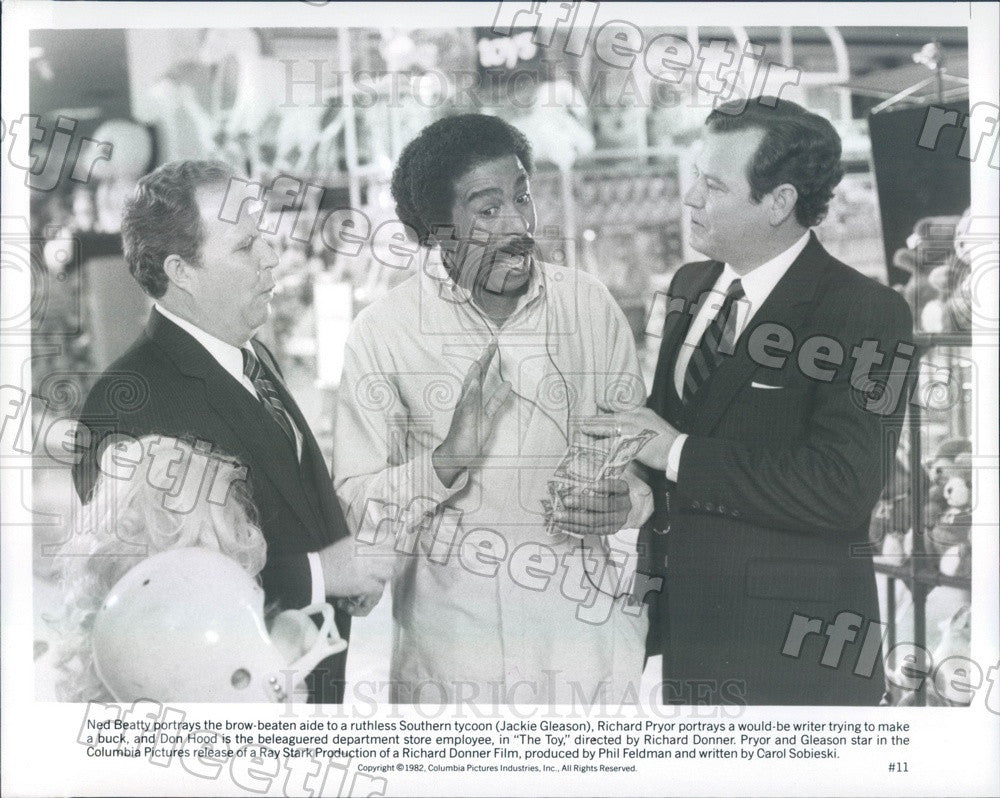 1982 Actors Ned Beatty, Richard Pryor, Don Hood in The Toy Press Photo ady511 - Historic Images