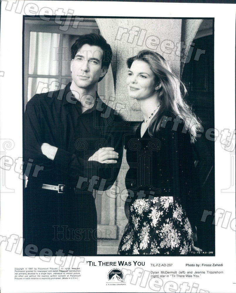 1997 Actors Dylan McDermott & Jeanne Tripplehorn in Film Press Photo ady529 - Historic Images