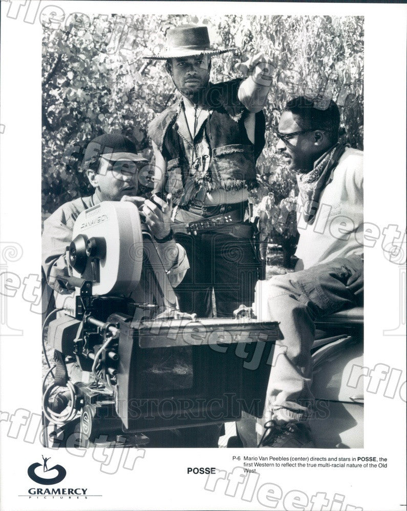 Undated Actor, Director Mario Van Peebles Filming Posse Press Photo ady53 - Historic Images