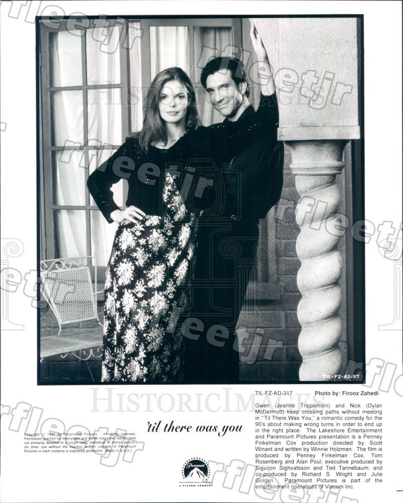 1997 Actors Dylan McDermott & Jeanne Tripplehorn in Film Press Photo ady535 - Historic Images