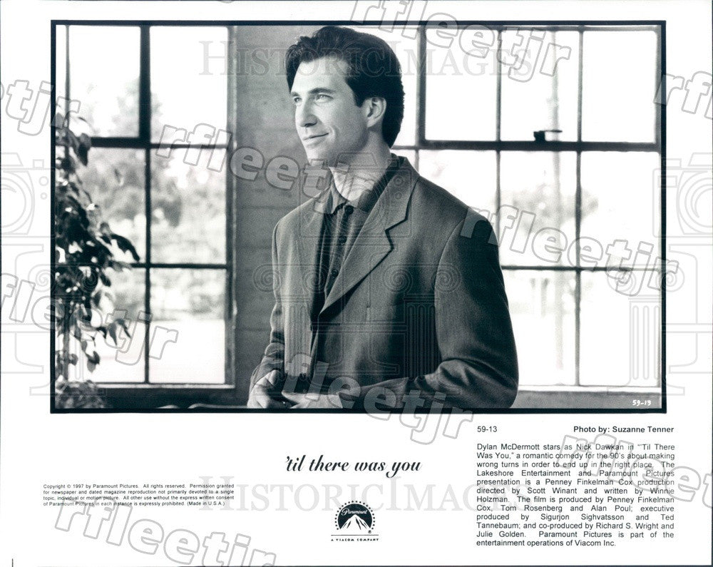 1997 Actor Dylan McDermott in Film 'Til There Was You Press Photo ady541 - Historic Images