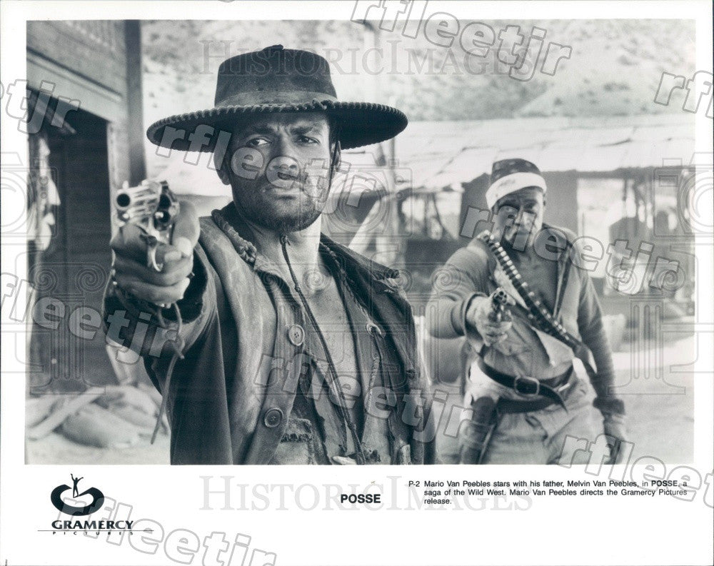 Undated Actors Mario Van Peebles, Melvin Van Peebles Press Photo ady55 - Historic Images