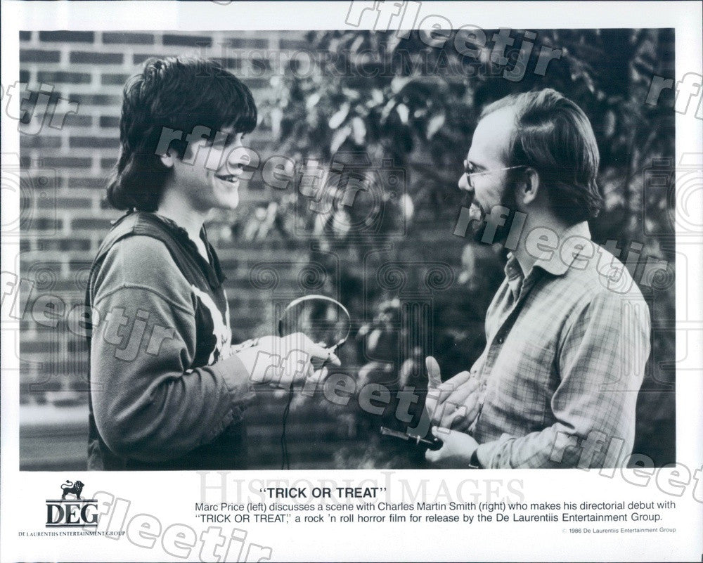 1986 Actors Marc Price, Director Charles Martin Smith Press Photo ady553 - Historic Images