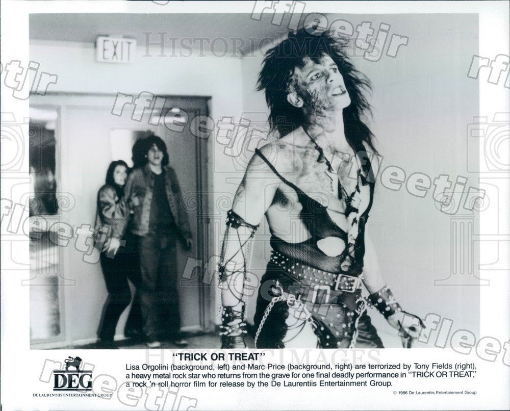 1986 Actors Tony Fields, Marc Price, Lisa Orgolini in Film Press Photo ady555 - Historic Images