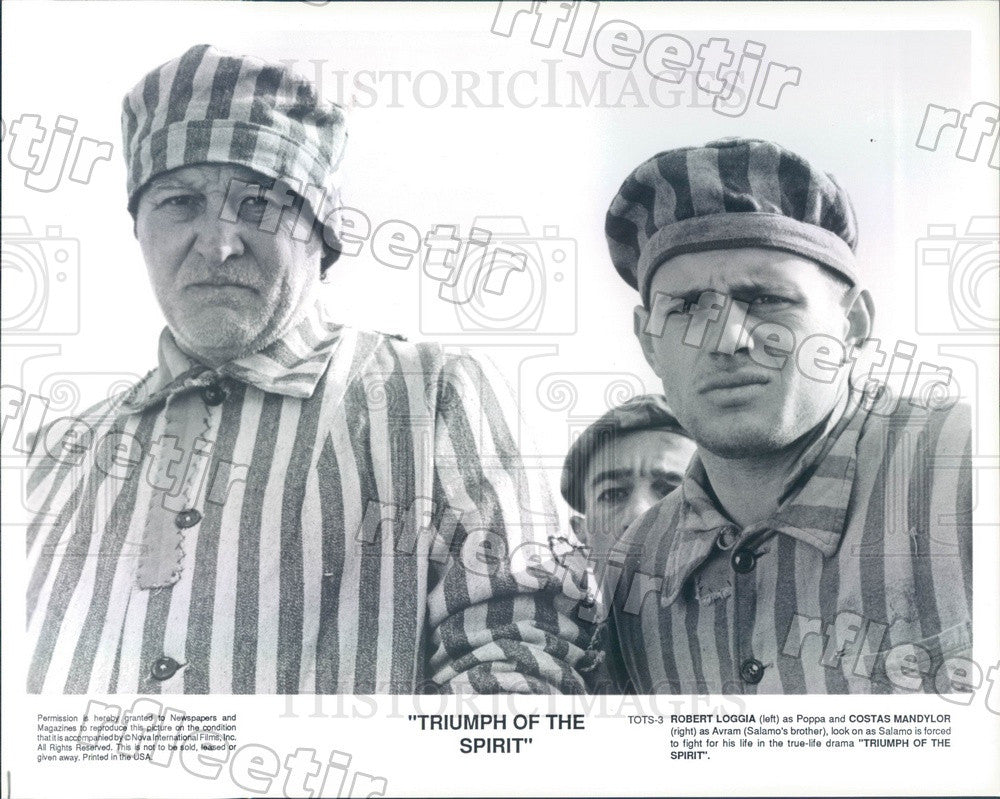 Undated Actors Robert Loggia & Costas Mandylor in Film Press Photo ady565 - Historic Images
