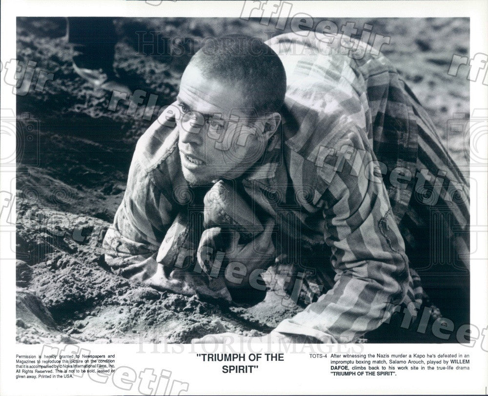 Undated Actor Willem Dafoe in Film Triumph Of The Spirit Press Photo ady567 - Historic Images