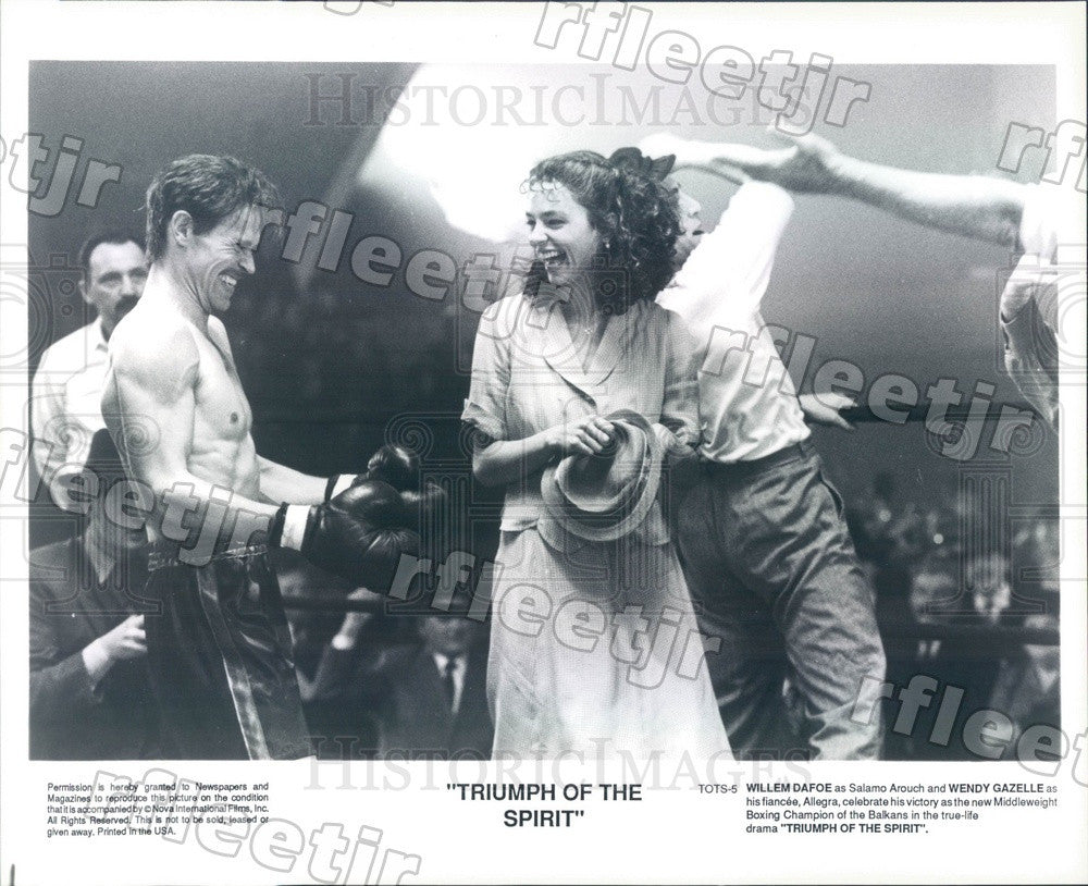 Undated Actors Willem Dafoe & Wendy Gazelle in Film Press Photo ady569 - Historic Images