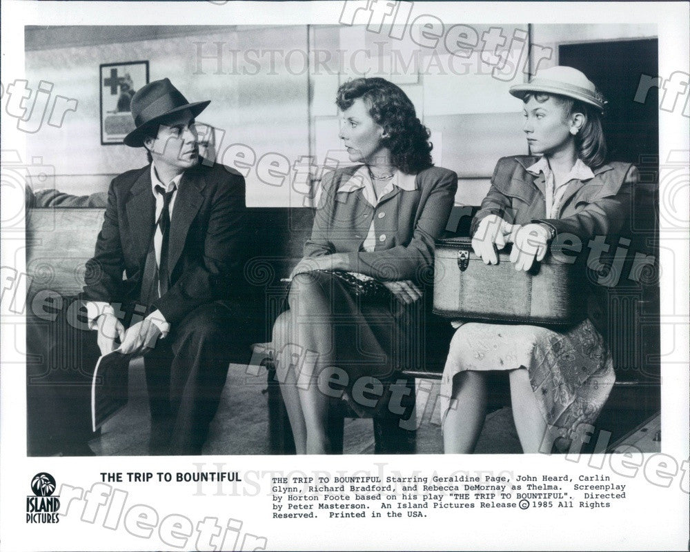 1985 Oscar Winning Actor Geraldine Page in Film Press Photo ady579 - Historic Images