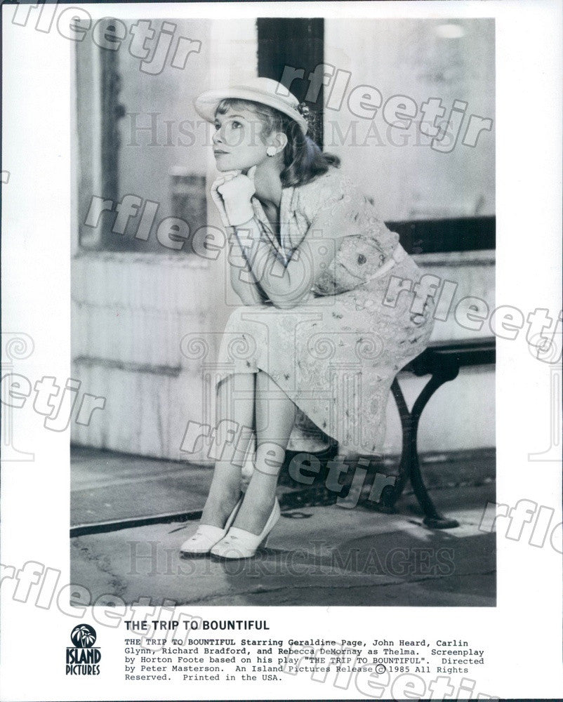 1985 Oscar Winning Actor Geraldine Page in Film Press Photo ady581 - Historic Images