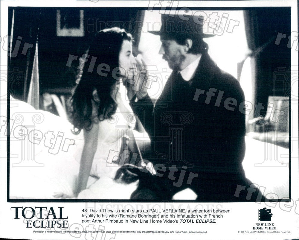 1996 Actors David Thewlis & Romane Bohringer in Film Press Photo ady583 - Historic Images