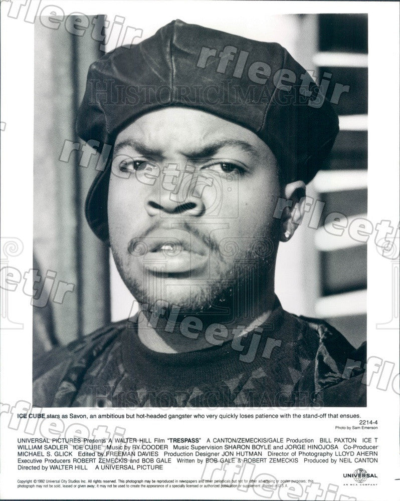 1992 Actor, Rapper Ice Cube in Film Trespass Press Photo ady589 - Historic Images