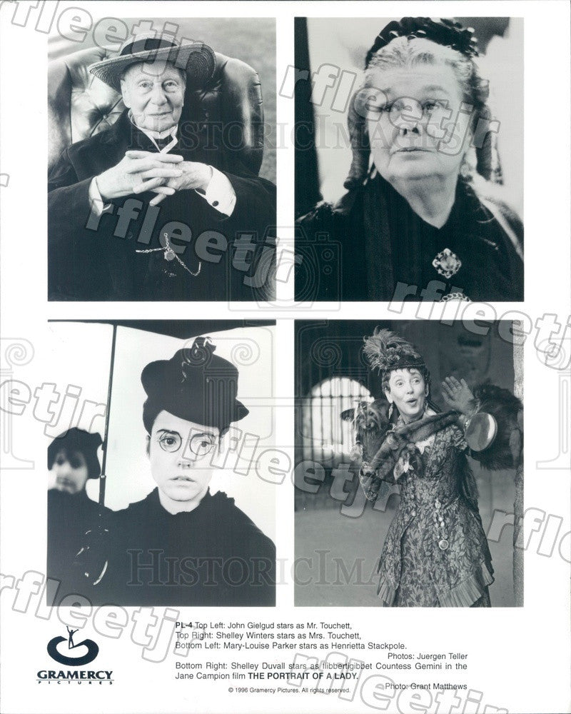 1996 Actors John Gielgud, Shelley Winters, Mary-Louise Parker Press Photo ady59 - Historic Images