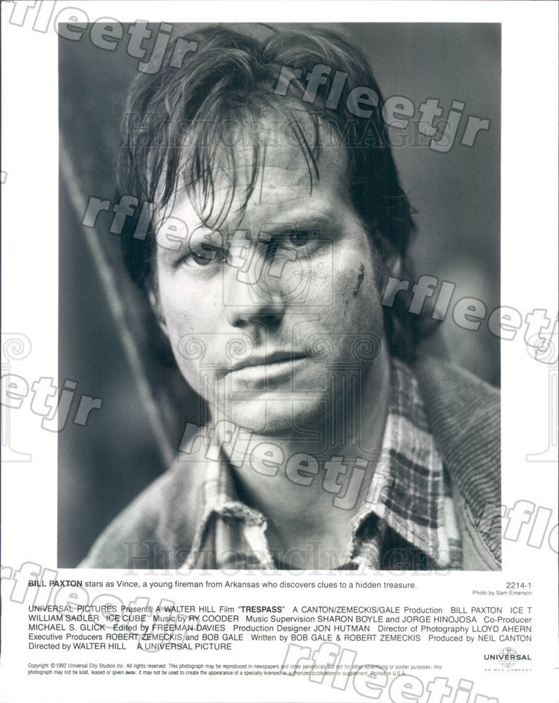 1992 American Actor Bill Paxton in Film Trespass Press Photo ady595 - Historic Images