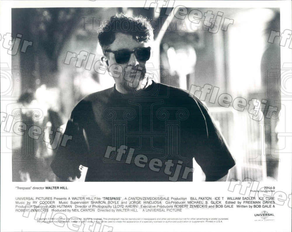 1992 Director Walter Hill of Film Trespass Press Photo ady601 - Historic Images