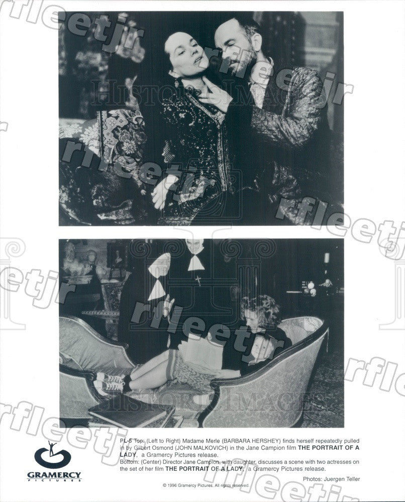 1996 Actors Barbara Hershey, John Malkovich, Dir Jane Campion Press Photo ady61 - Historic Images