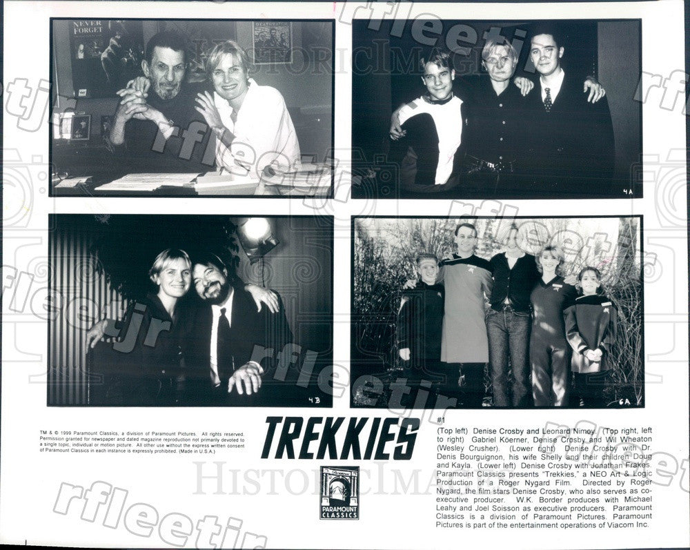 1999 Actors Leonard Nimoy, Denise Crosby, Wil Wheaton Press Photo ady615 - Historic Images
