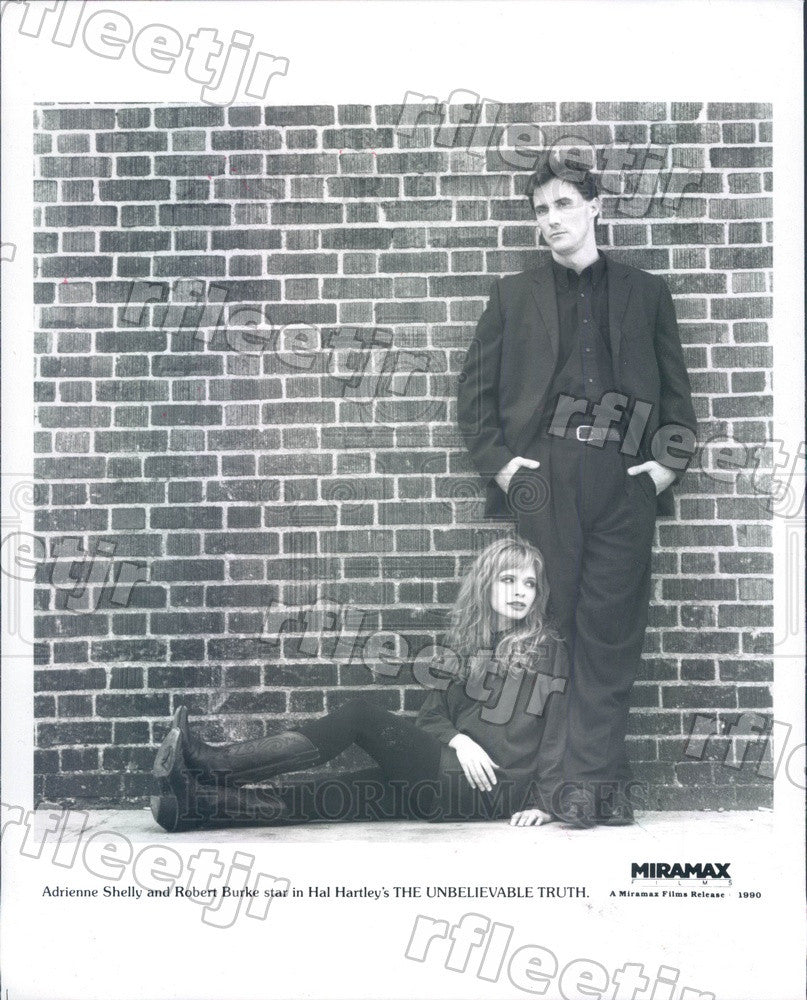1990 Actors Adrienne Shelly & Robert Burke in Film Press Photo ady635 - Historic Images