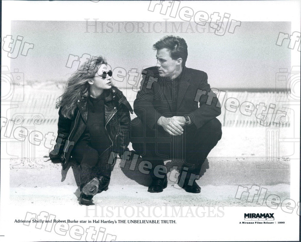 1990 Actors Adrienne Shelly & Robert Burke in Film Press Photo ady639 - Historic Images