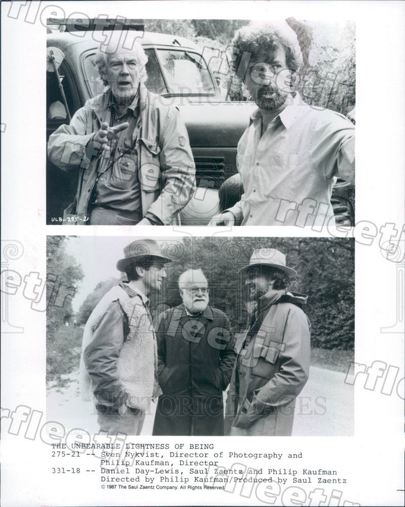 1987 Actor Daniel Day-Lewis, Director Philip Kaufman Press Photo ady645 - Historic Images