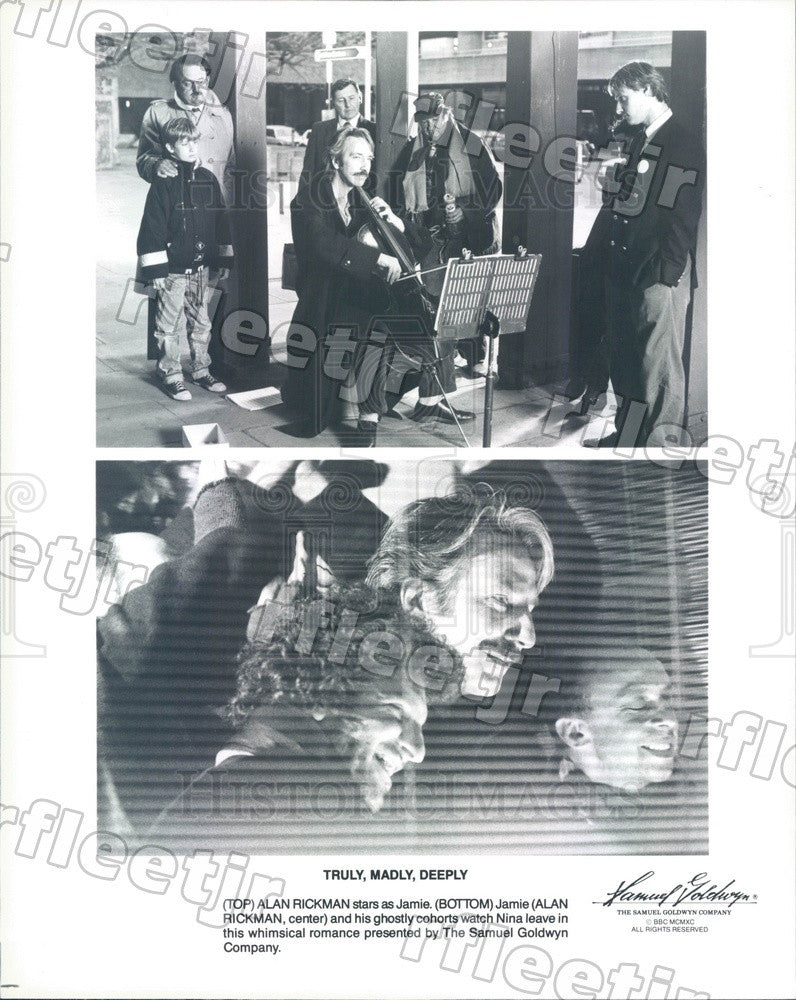 1990 Emmy Winning Actor Alan Rickman in Truly, Madly, Deeply Press Photo ady661 - Historic Images