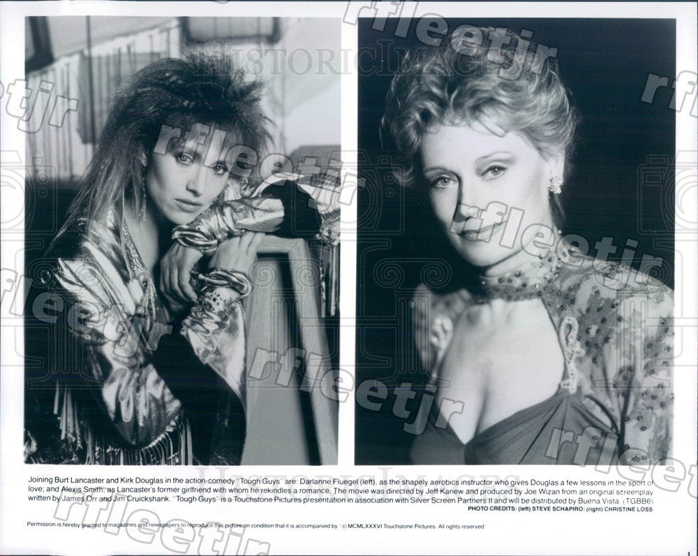 1986 Actors Darlanne Fluegel & Tony Winner Alexis Smith Press Photo ady671 - Historic Images