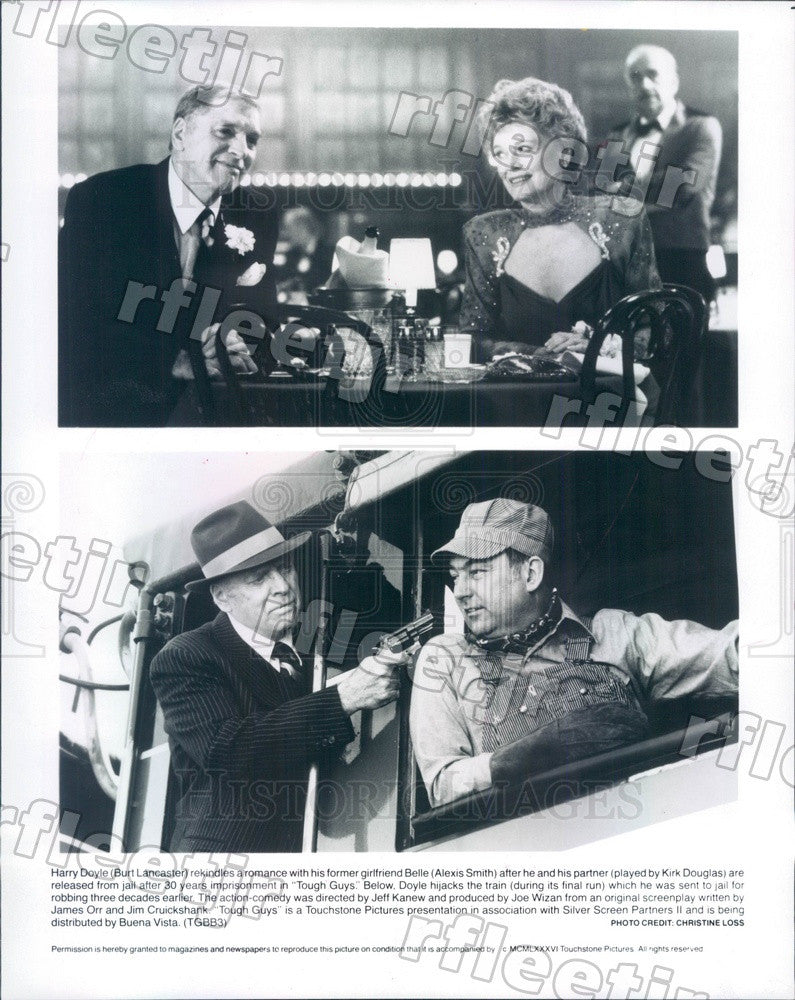 1986 Oscar Winning Actor Burt Lancaster & Alexis Smith Press Photo ady673 - Historic Images
