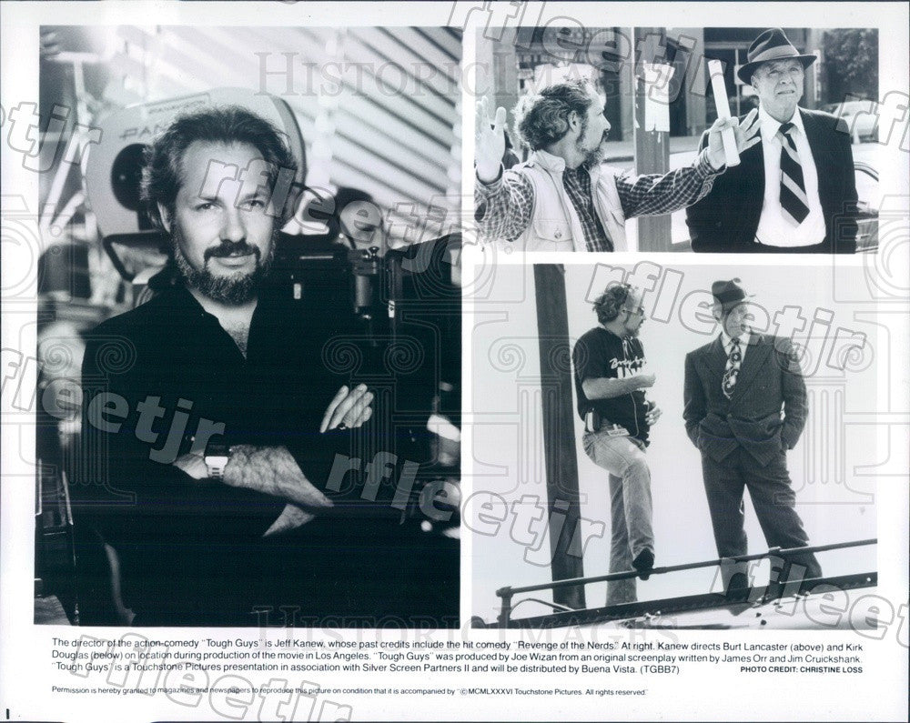 1986 Oscar Winning Actor Burt Lancaster, Kirk Douglas Press Photo ady679 - Historic Images