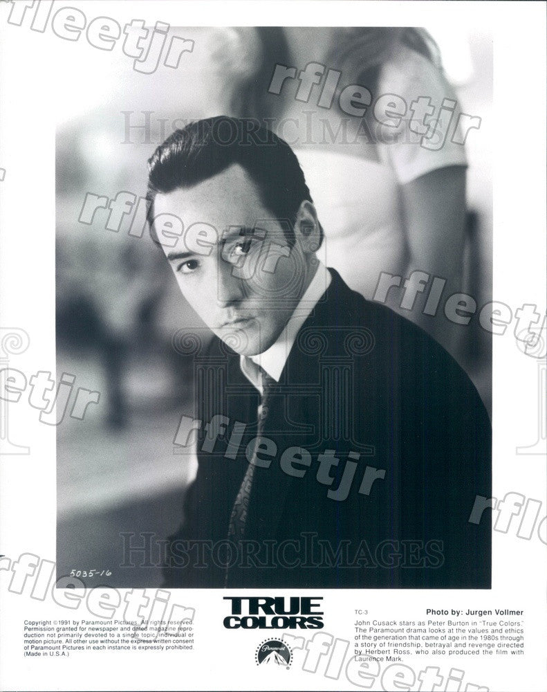 1991 American Actor John Cusack in Film True Colors Press Photo ady681 - Historic Images