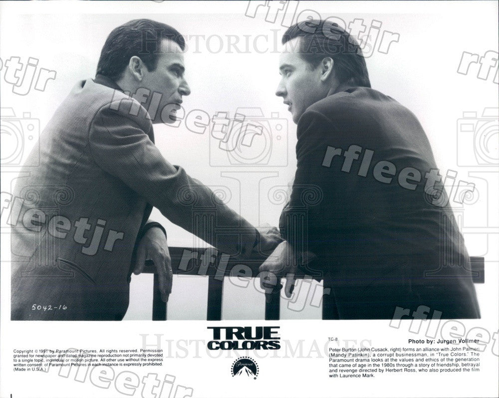 1991 Actors John Cusack & Mandy Patinkin in Film True Colors Press Photo ady689 - Historic Images