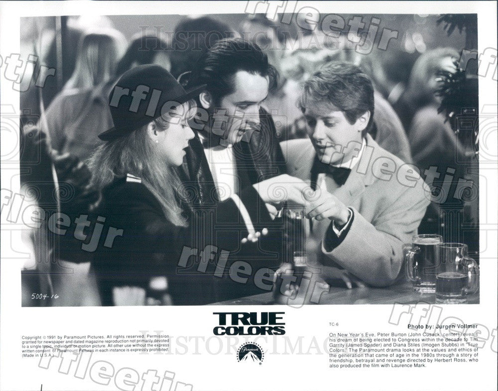 1991 Actors John Cusack, James Spader, Imogen Stubbs Press Photo ady693 - Historic Images