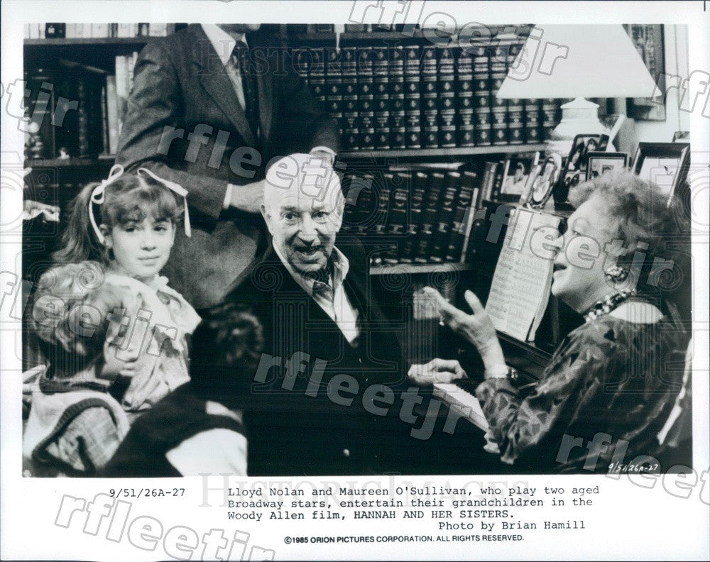 1985 Actors Lloyd Nolan & Maureen O'Sullivan in Film Press Photo ady721 - Historic Images